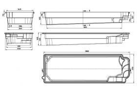 schwimmbecken 39 39 kefalina 39 39 9 5 meter lang aus polyester auf der form aus polen von blask in. Black Bedroom Furniture Sets. Home Design Ideas