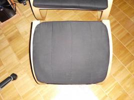 Foto 3 Schwingsessel in schwarz mit Fußteil