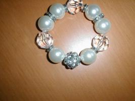 Foto 2 Sehr eleganter, perlen Armband, Neu