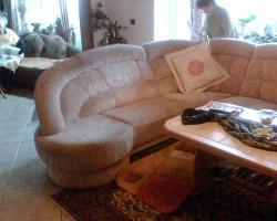 Sehr gut erhaltene Microvelours Eckcouch /-sofa