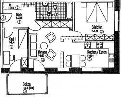 Sehr schöne Wohnung mit offener Küche im Energiesparhaus zu verkaufen.