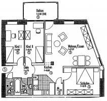 Sehr schöne Wohnung  im Energiesparhaus