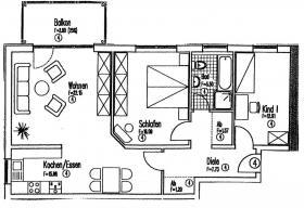 Sehr schöne Wohnung  im Energiesparhaus zu verkaufen.