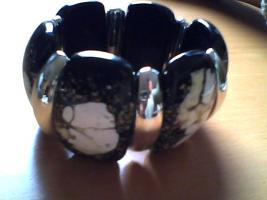 Foto 2 Sehr schöner Armband, Neu, schwarz-weiß-gold, modeschmuck