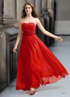Sehr schönes Abendkleid Modefarbe rot. passende Stola dazuGr.36-38