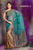 Sehr schönes Bollywood  net Sari(Saree) RUMANIYA-A