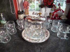 Sehr schönes Bowle-Services aus Glas