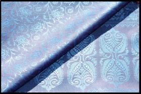 Seidenschal Schal Tuch Stola z.Kleid blau Indien *neu*