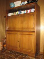 Foto 2 Sekreträrschrank + Vitrinenschrank, eichedunkel, B120/ H160/ T45 cm