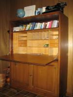 Foto 3 Sekreträrschrank + Vitrinenschrank, eichedunkel, B120/ H160/ T45 cm