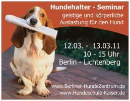 Seminar optimale geistige und körperliche Auslastung für den Hund