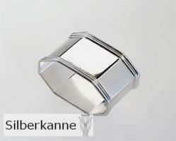 Serviettenring Octo L 5,5 cm, Silber Plated