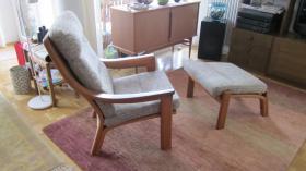 Foto 2 Sessel mit Fußhocker