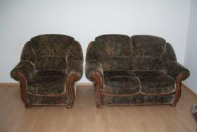 Sessel + 2-Sitzer-Couch