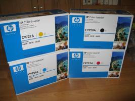 Set Original Toner HP  C9720A+C9721A+C9722A+C9723A
