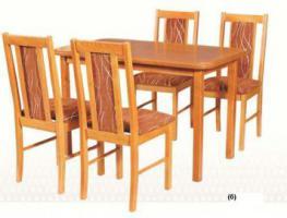 Set - Tisch+Stuhle Holz, Eßzimmermöbel