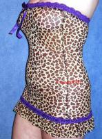 Sexy Bandeau negligee dessous Mini Kleid