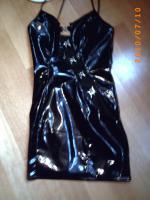 Sexy Lackkleid schwarz, Top Zustand, Gr. S