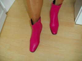Foto 4 Sexy pinkfarbene Stiefel Gr. 41