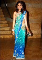 Shamita Shetty sari (Saree) Bollywood Schauspieler aus Indien