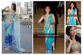 Foto 3 Shamita Shetty sari (Saree) Bollywood Schauspieler aus Indien