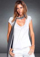 Shirt m. Raffungen - Chillytime - Weiß - Gr. 32 - 36 - NEU