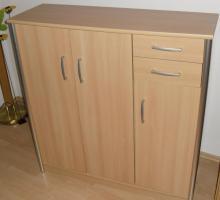 Sideboard Buchenachbildung Hell für Büro oder Wohnzimmer oder Flur