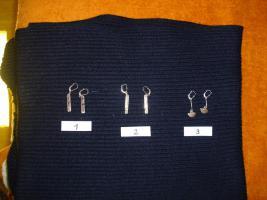 Silber/Gold Ohranhänger