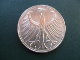 Foto 2 Silberadler 5 Deutsche Mark von 1951
