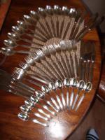 Silberbesteck für 12 Personen