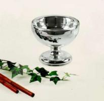 Silberglas Bauernsilber Fu�schale D 14 cm