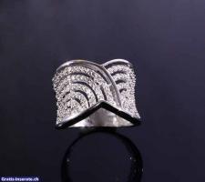 Foto 3 Silberring 925 Zirkonia höchste Qualität