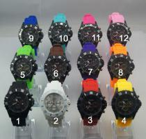 Silikon Watch Chrono Look zum Gro�handelspreis