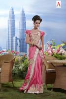 Silk Sari mit Blusenstoff New Fashion