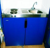 Single Küche blau