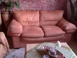 Sitzchouch 3-tlg. Farbe Lachs