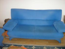 Foto 2 Sitzgruppe - 3 und 2 Sitzer Couch und Sessel in Blau