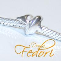 Slider Kleiner Silberdelfin 925 Sterling Silber