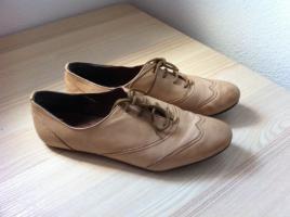 Foto 5 Slipper Halbschuhe Leder *Seven Seconds* Neu beige Gr. 39