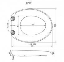 Slow-Close WC-Deckel weiß (WSM101BP) - OVP - NEU