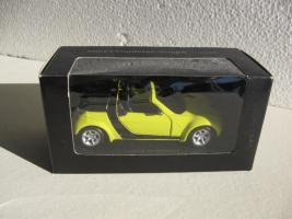 Smart Roadster-Coupè gelb/schwarz Modellauto
