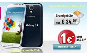 Smartphone Samsung Galaxy S4 wei� oder blau I9505 mit Vertrag D1 u. 4-fach-Flat nur 34,90 Euro monatlich, keine Anschlu�geb�hr, Frei Haus