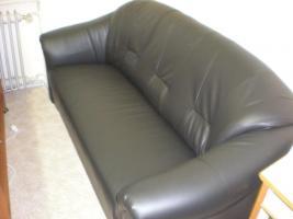 Sofa 1,2,3, Lederimitat schwarz