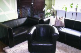 Sofa 3-Sitzer, 2-Sitzer u. Sessel