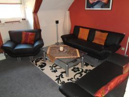 Sofa Couch Garnitur Sessel 2er 3er Kunstleder Schwarz Alu Wie NEU