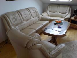 Sofa Garnitur 3-2-1 teilig echt Leder (sehr guter Zustand) zu verkaufen!