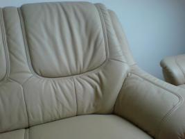Foto 3 Sofa Garnitur 3-2-1 teilig echt Leder (sehr guter Zustand) zu verkaufen!