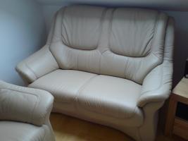 Foto 5 Sofa Garnitur 3-2-1 teilig echt Leder (sehr guter Zustand) zu verkaufen!