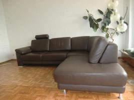 Sofa Leder Couch Wohnlandschaft Ecksofa