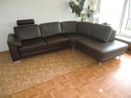 Foto 2 Sofa Leder Couch Wohnlandschaft Ecksofa